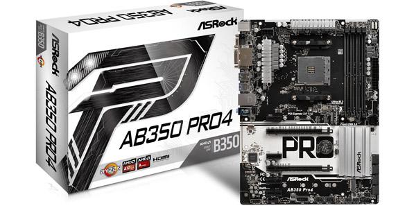 ASROCK AMD AB350-PRO4 - SOCKET AM4 - DDR4 - ATX - MOTHERBOARD