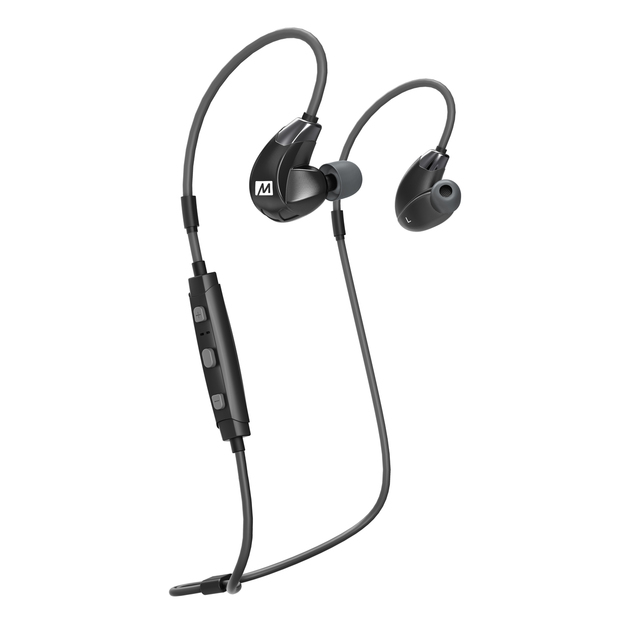 MEEAUDIO X7 PLUS STEREO BLUETOOTH WIRELESS SPORTS IN-EAR HD HEADPHONES WITH MEMORY WIRE - EP-X7PLUS-BK-MEE