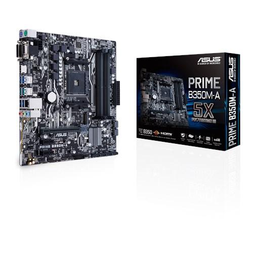 ASUS AMD PRIME B350M-A - SOCKET AM4 - DDR4 - MICRO-ATX - MOTHERBOARD