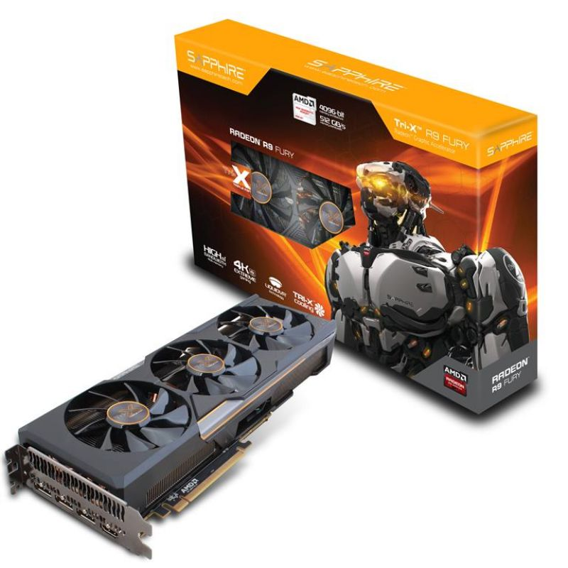 SAPPHIRE AMD TRI-X R9 FURY VIDEO CARD 4GB HBM PCIe UEFI