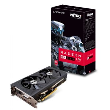 SAPPHIRE AMD NITRO+ RX 480 8GB OC DDR5 PCI-E - VIDEO CARD - 11260-01-20G