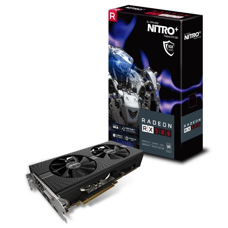 SAPPHIRE AMD NITRO+ RADEON RX 580 8GB DDR5 PCI-E - VIDEO CARD - 11265-01-20G