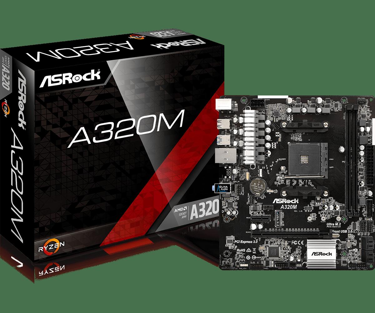 ASROCK AMD A320M SOCKET AM4 MICRO-ATX MOTHERBOARD