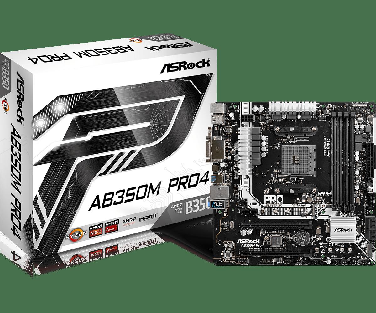 ASROCK AMD AB350M-PRO4 SOCKET AM4 MICRO-ATX MOTHERBOARD