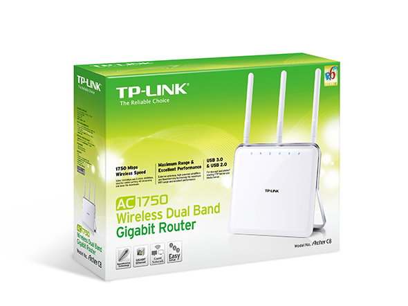 TP-LINK ARCHER C8 - AC1750 WIRELESS DUAL BAND GIGABYTE ROUTER - ARCHER C8