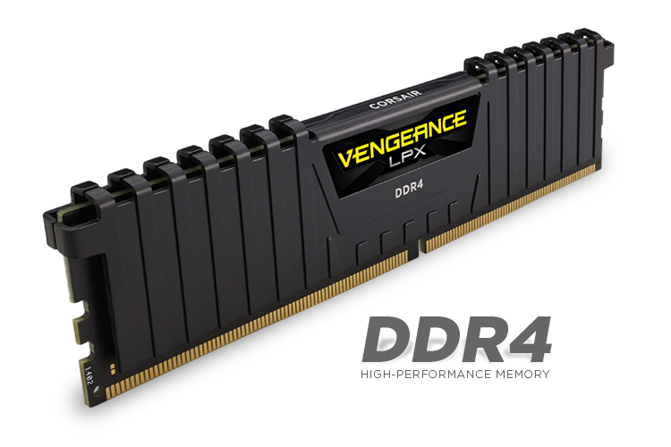 CORSAIR VENGEANCE LPX 32GB KIT 2X16 DDR4 2666MHZ - BLACK - MEMORY KIT - CMK32GX4M2A2666C16