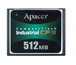 APACER 512MB COMPACT FLASH CARD - AP-CF512ME3FR-NRJ