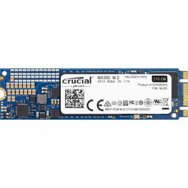 CRUCIAL MX300 275GB M.2 TYPE 2280 SOLID STATE DRIVE - CT275MX300SSD4