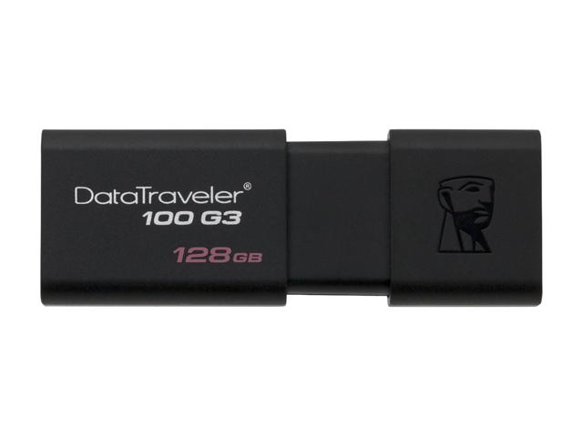 KINGSTON DATATRAVELER 100 G3 128GB USB 3.0 FLASH DRIVE - DT100G3/128GB