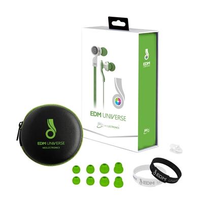 MEEAUDIO D1P EDM UNIVERSE IN-EAR HEADPHONES - UNITY/GREEN