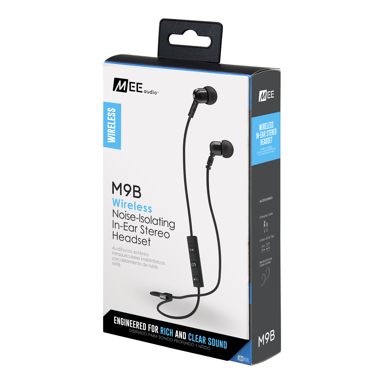 MEEAUDIO M9B BLUETOOTH WIRELESS NOISE-ISOLATING IN-EAR STEREO HEADSET - EP-M9B-BK-MEE
