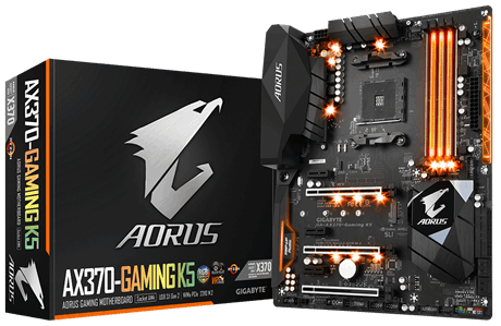 GIGABYTE AMD GA-AX370-GAMING K5 - SOCKET AM4 - DDR4 - ATX - MOTHERBOARD