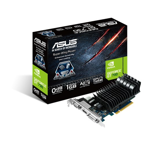 ASUS NVIDIA GEFORCE GT 730 1G DDR3 PCI-E LOW PROFILE - VIDEO CARD - GT730-SL-1GD3-BRK