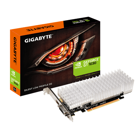 GIGABYTE NVIDIA GEFORCE GT 1030 SILENT LOW PROFILE 2GB - PCI-E - VIDEO CARD - GV-N1030SL-2GL