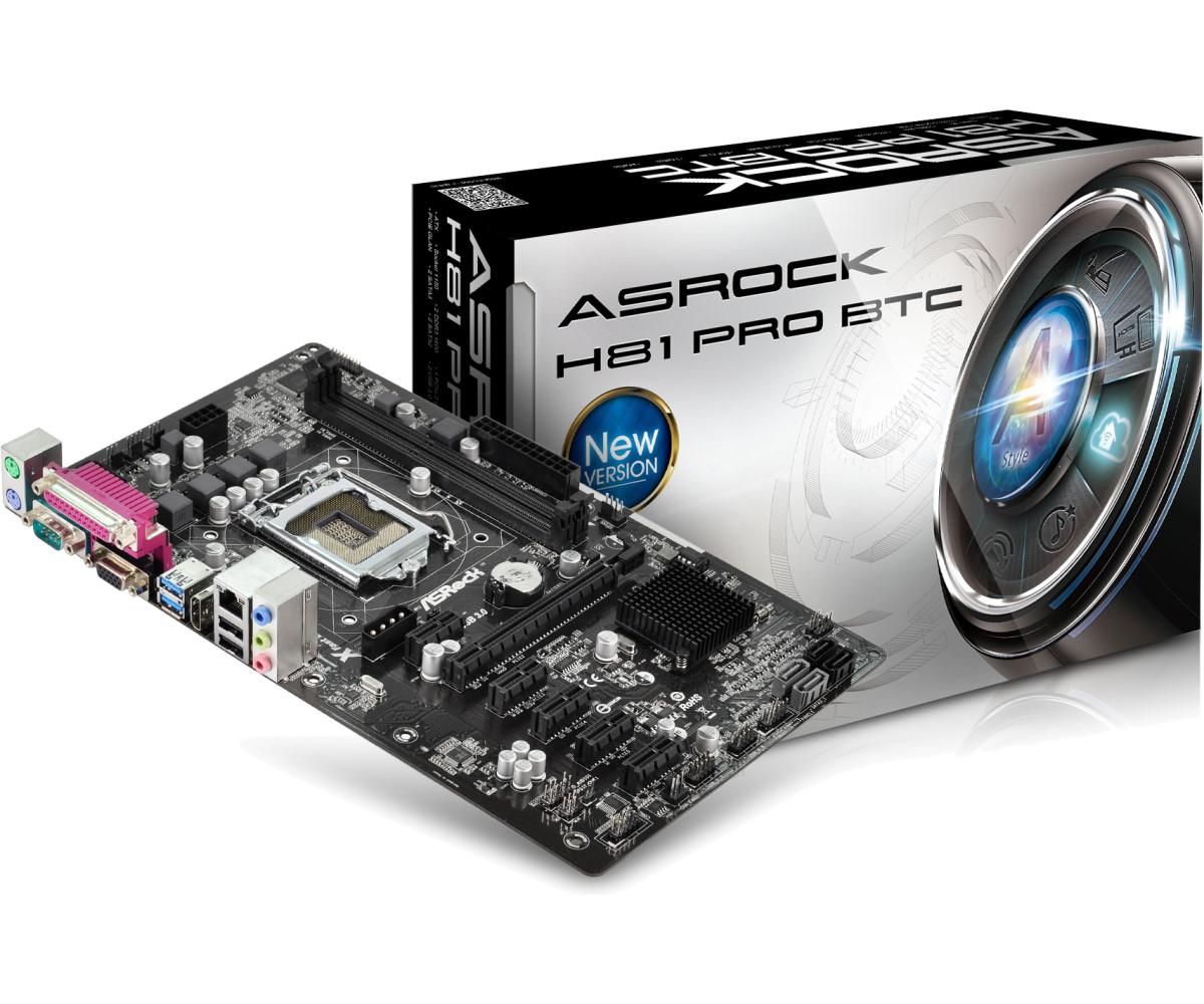 ASROCK INTEL H81 PRO BTC SOCKET 1150 ATX MOTHERBOARD