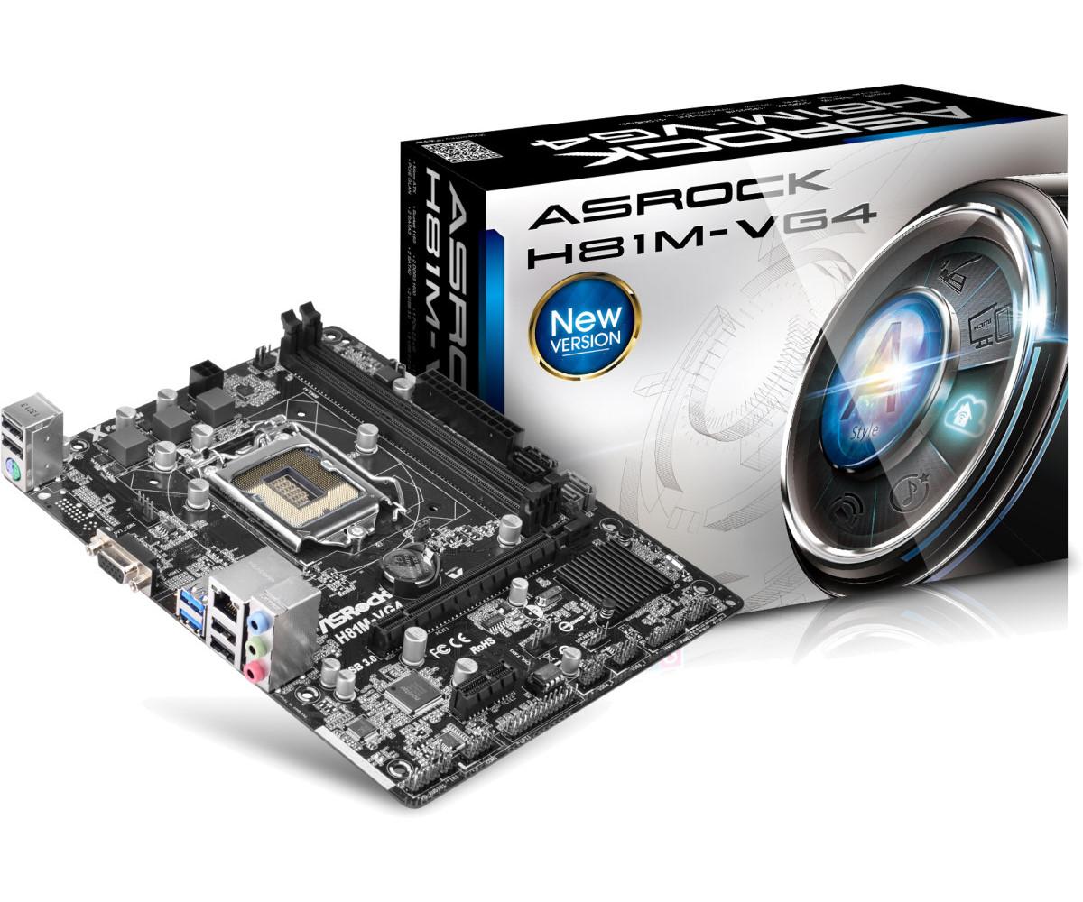 ASROCK INTEL H81M-VG4 SOCKET 1150 MICRO-ATX MOTHERBOARD