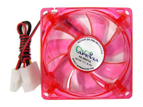 APEVIA 120MM UV RED LED CASE FAN