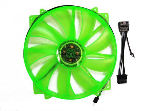 APEVIA 200MM W/UV GREEN LED (RETAIL)