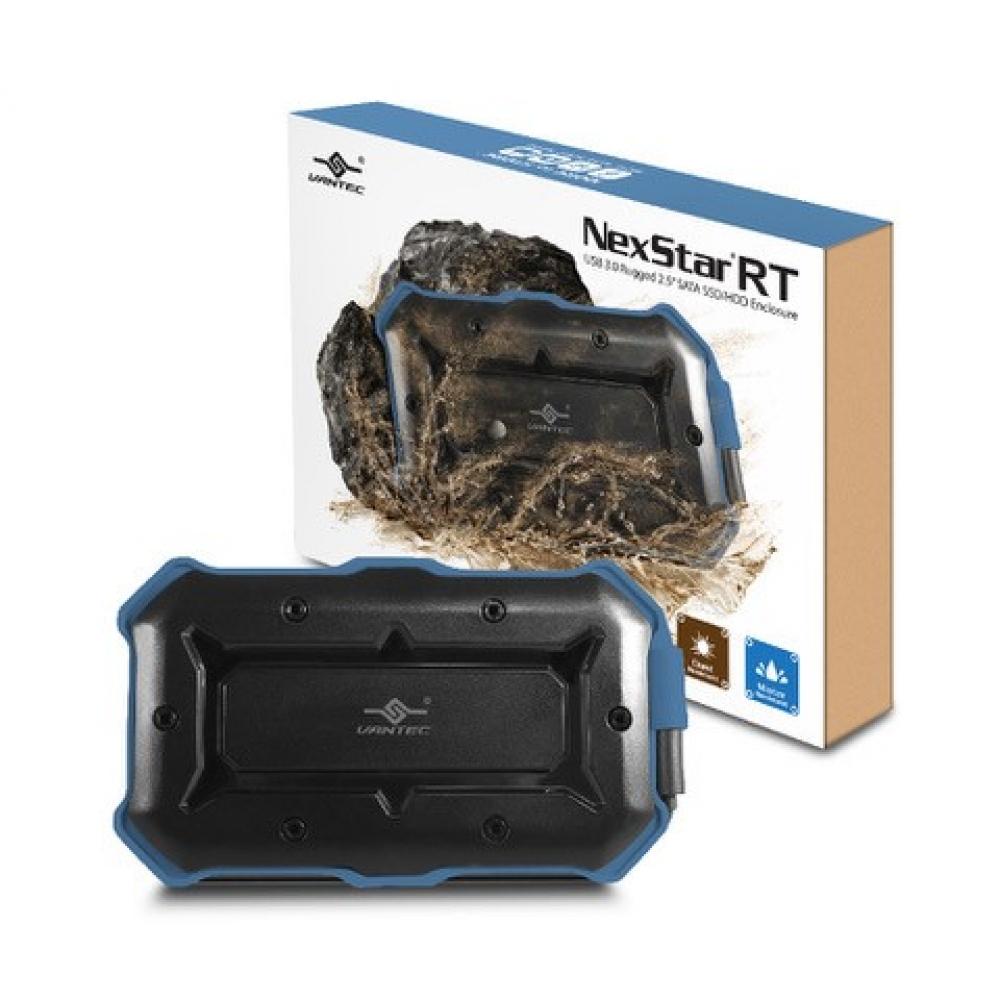 """VANTEC NEXSTAR RT EXTERNAL 2.5"""" SATA USB 3.0 BLACK - HARD DRIVE ENCLOSURE - NST-250S3-BL"""