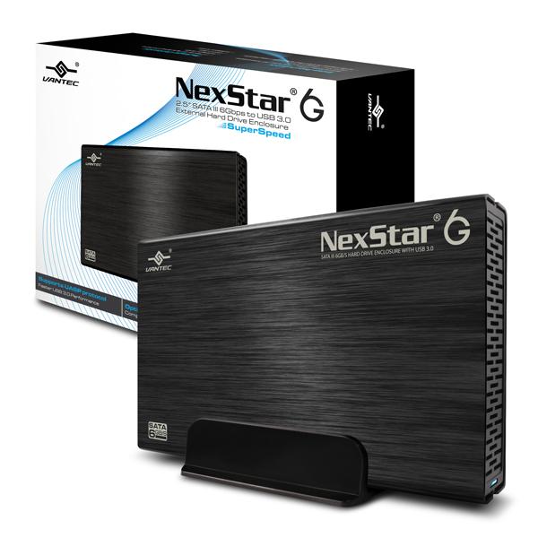 """VANTEC NEXSTAR 6G EXTERNAL 3.5"""" SATA 6GB/S USB 3.0 BLACK - HARD DRIVE ENCLOSURE - NST-366S3-BK"""
