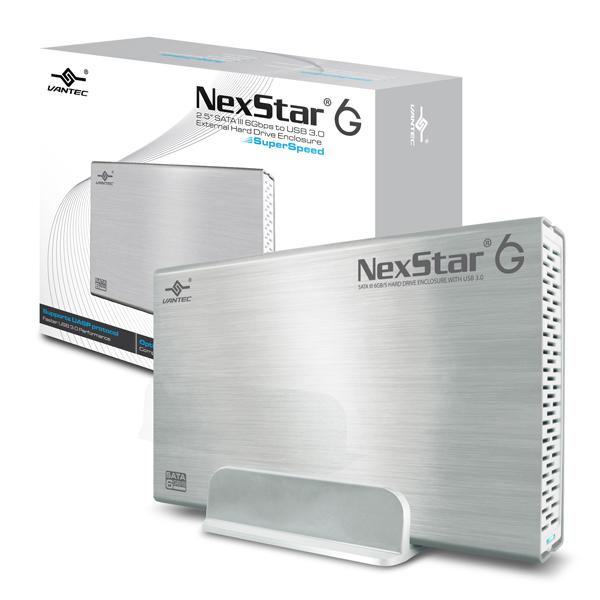 """VANTEC NEXSTAR 6G EXTERNAL 3.5"""" SATA 6GB/S USB 3.0 SILVER - HARD DRIVE ENCLOSURE - NST-366S3-SV"""
