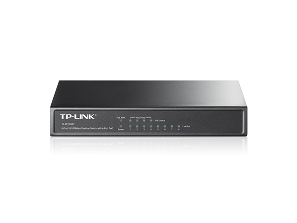 TP-LINK 8-PORT 10/100 W/4P POE SWITCH