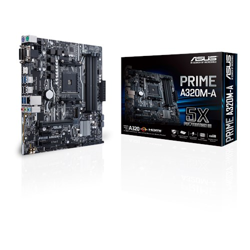 ASUS AMD PRIME A320M-A - SOCKET AM4 - DDR4 - MICRO-ATX - MOTHERBOARD