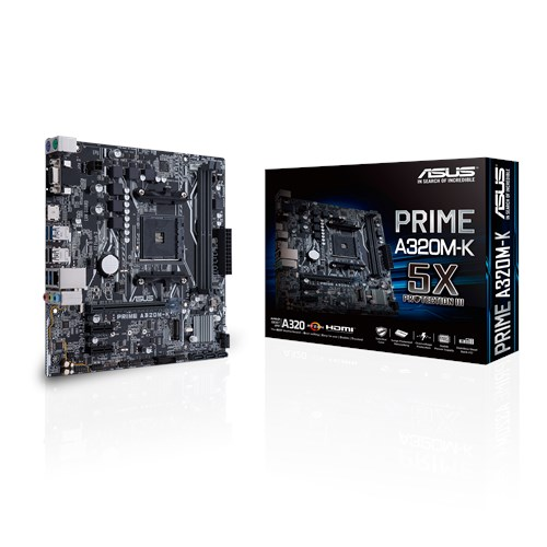 ASUS AMD PRIME A320M-K - SOCKET AM4  - DDR4 - MICRO-ATX - MOTHERBOARD