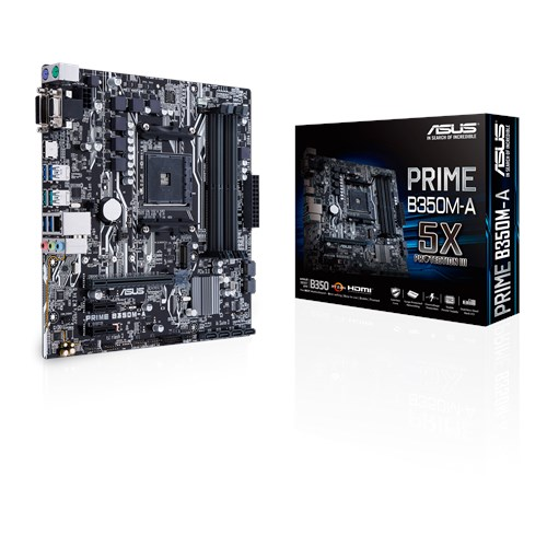 ASUS AMD PRIME B350M-A - SOCKET AM4 - DDR4 - MICRO-ATX - MOTHERBOARD
