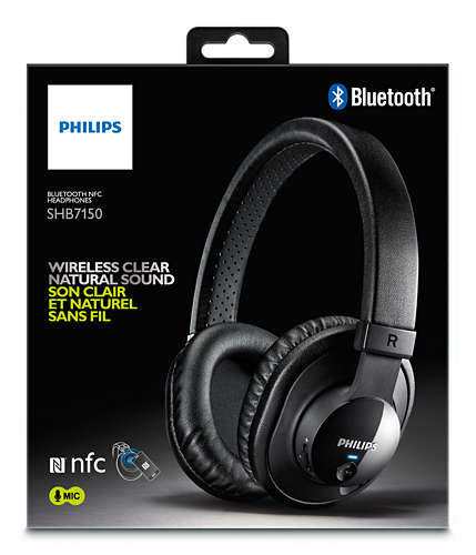 PHILIPS WIRELESS BLUETOOTH HEADPHONES - SHB7150FB