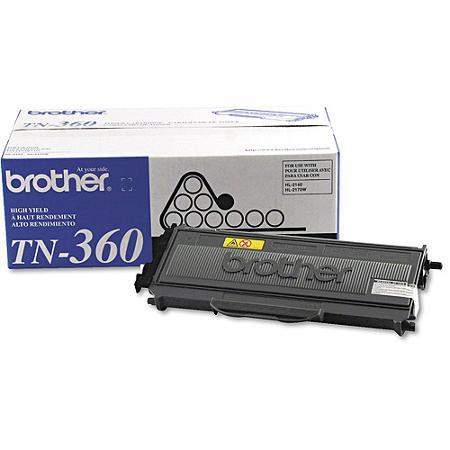BROTHER TN-360 BLACK TONER CARTRIDGE HIGH YIELD