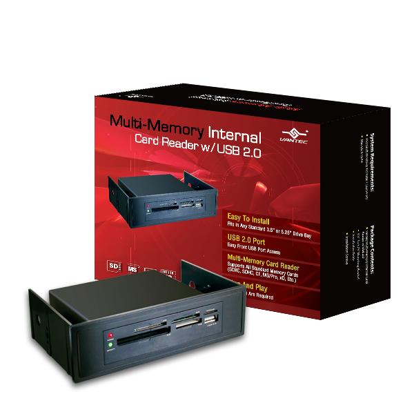 """VANTEC 3.5""""/5.25"""" INTERNAL USB 2.0 MULTI-MEMORY CARD READER - UGT-CR905"""
