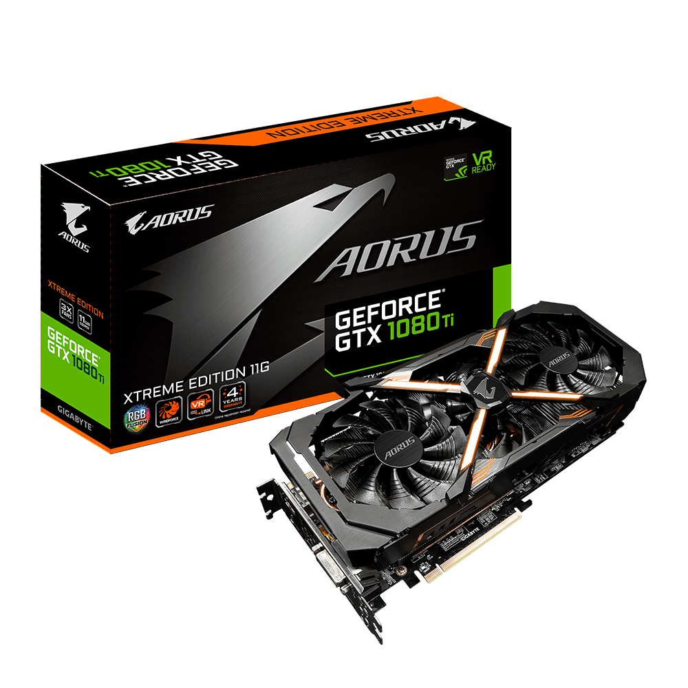 GIGABYTE NVIDIA GEFORCE GTX 1080 TI AORUS - 11GB DDR5 PCI-E - VIDEO CARD