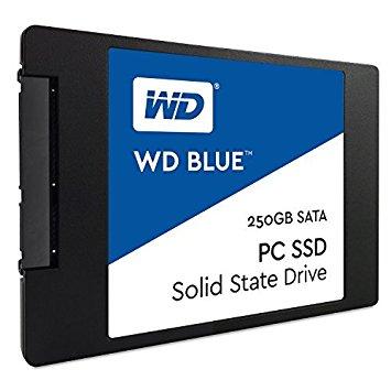 """WD BLUE PC SSD - 250GB, SATA3, 6GB/S, 2.5"""", 7mm - SOLID STATE DRIVE - WDS250G1B0A"""