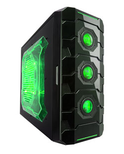 APEVIA COMPUTER CASE - X-CRUISER3 METAL CASE WITH SIDE WINDOW - GREEN - ATX - MID TOWER - X-CRUISER3-GN