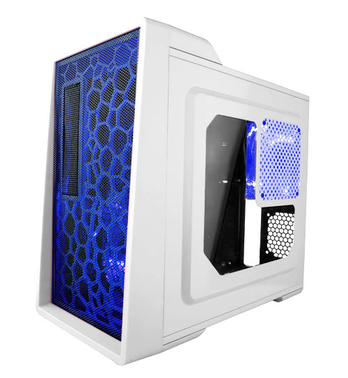 APEVIA COMPUTER CASE - X-ENERQ METAL CASE WITH SIDE WINDOWS - WHITE - ATX - MID TOWER - X-ENERQ-WHT