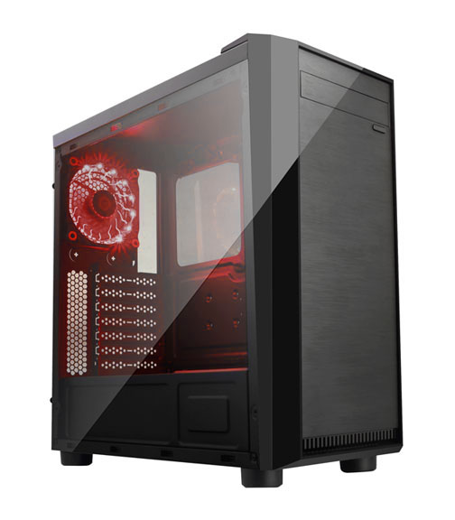 APEVIA COMPUTER CASE - X-MIRAGE METAL CASE WITH SIDE WINDOW - RED - ATX - MID-TOWER - X-MIRAGE-RD