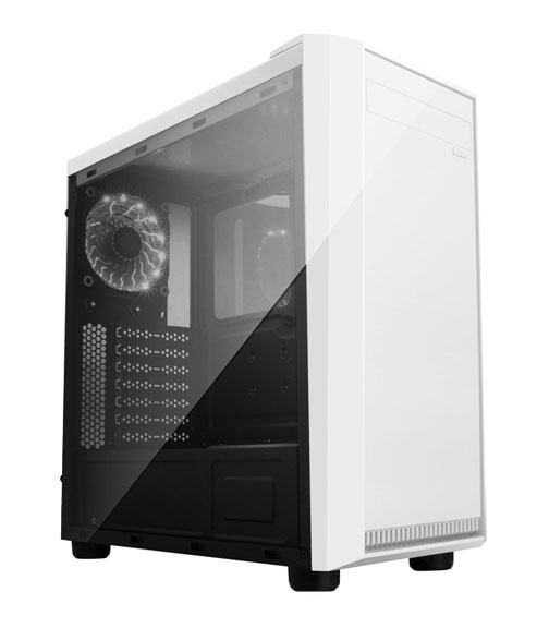 APEVIA COMPUTER CASE - X-MIRAGE METAL CASE WITH SIDE WINDOW - WHITE - ATX - MID-TOWER - X-MIRAGE-WH