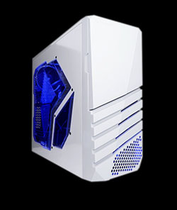 APEVIA COMPUTER CASE - X-PIONEER METAL CASE WITH SIDE WINDOW - WHITE - ATX - MID TOWER - X-PIONEER-WHT