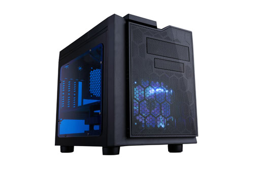 APEVIA COMPUTER CASE - X-QPACK3 METAL CASE WITH SIDE WINDOW - BLUE - MICRO ATX - XQPACK3-BL