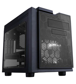 APEVIA COMPUTER CASE - X-QPACK3 METAL CASE WITH SIDE WINDOWS - CLEAR - MICRO ATX - XQPACK3-CL