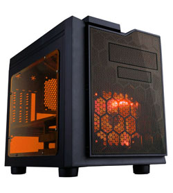 APEVIA COMPUTER CASE - X-QPACK3 METAL CASE WITH SIDE WINDOWS - ORANGE - MICRO ATX - XQPACK3-OG