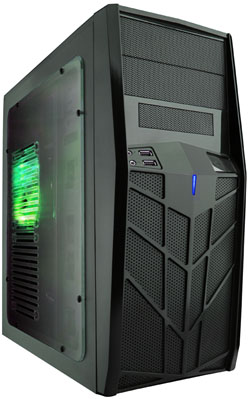 APEVIA COMPUTER CASE - X-TROOPER JR CASE WITH SIDE WINDOW - GREEN - ATX - MID-TOWER - X-TRPJR-GN