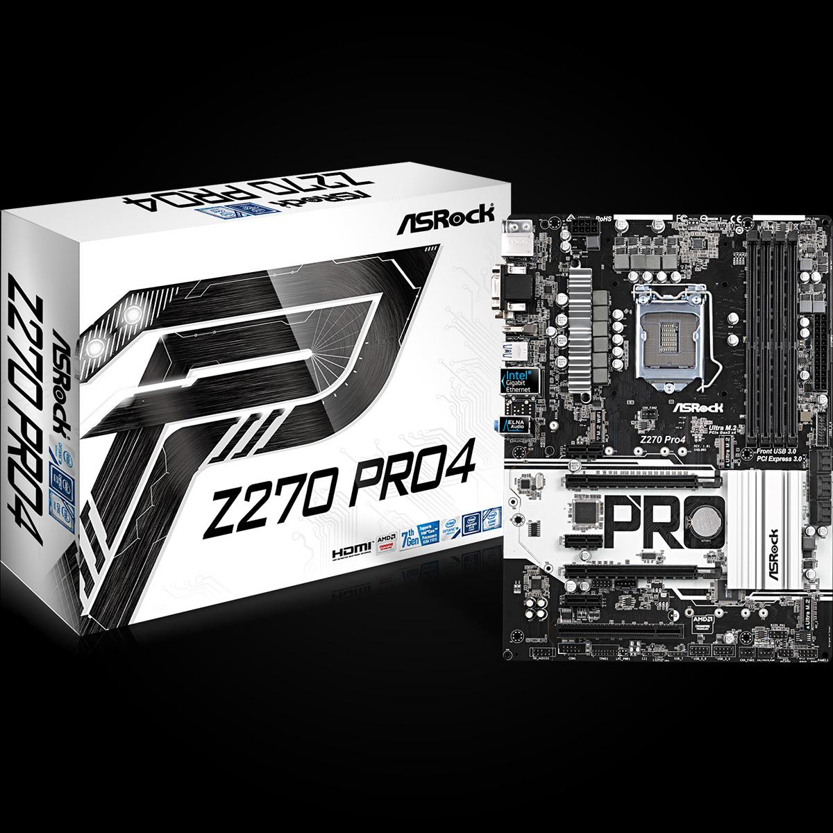 ASROCK INTEL Z270-PRO4 - SOCKET 1151 - DDR4 - ATX MOTHERBOARD