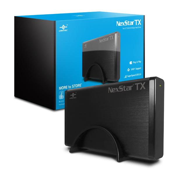 """VANTEC NEXSTAR TX 3.5"""" USB 3.0 HARD DRIVE ENCLOSURE - NST-328S3-BK"""