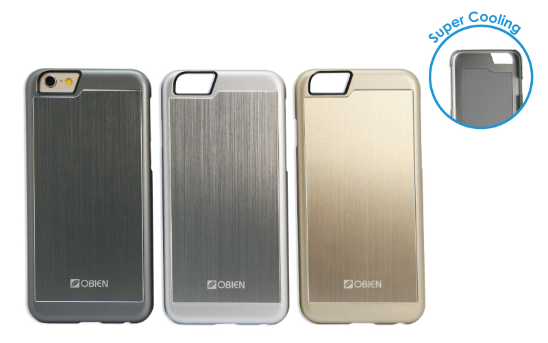 GENERIC APPLE PRODUCTS - OBIEN IPHONE 6 SUPER COOLING - SILVER - SMARTPHONE CASE