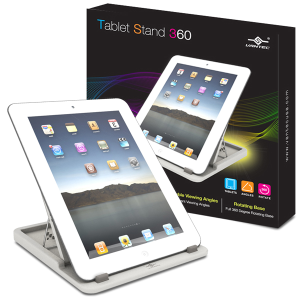 VANTEC TABLET STAND 360 - WHITE - TABLET ACCESSORIES - TAC-100-WH