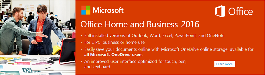 Microsoft Home and Business 2016