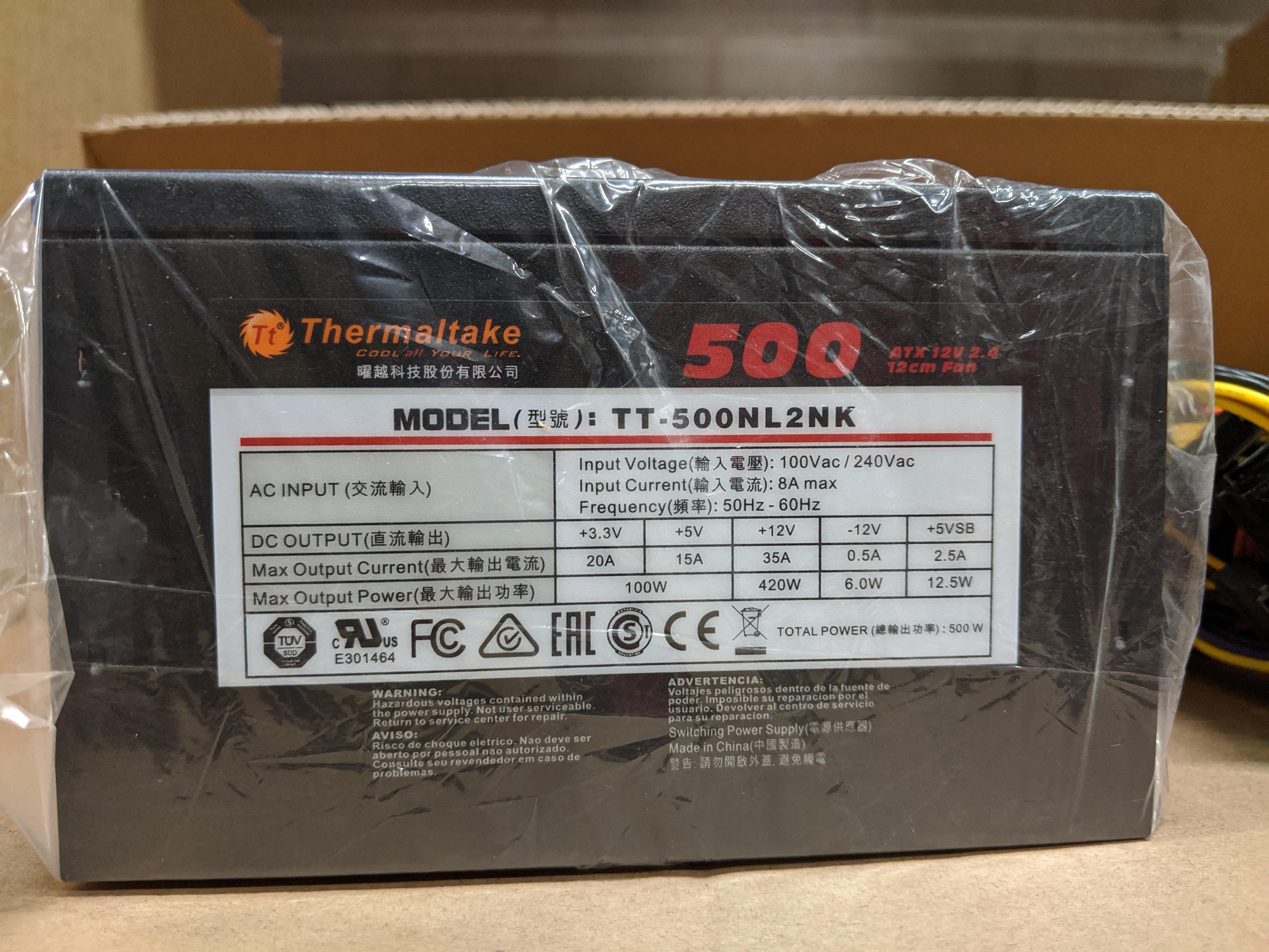 Thermaltake 500W ATX Power Supply Bulk Pack