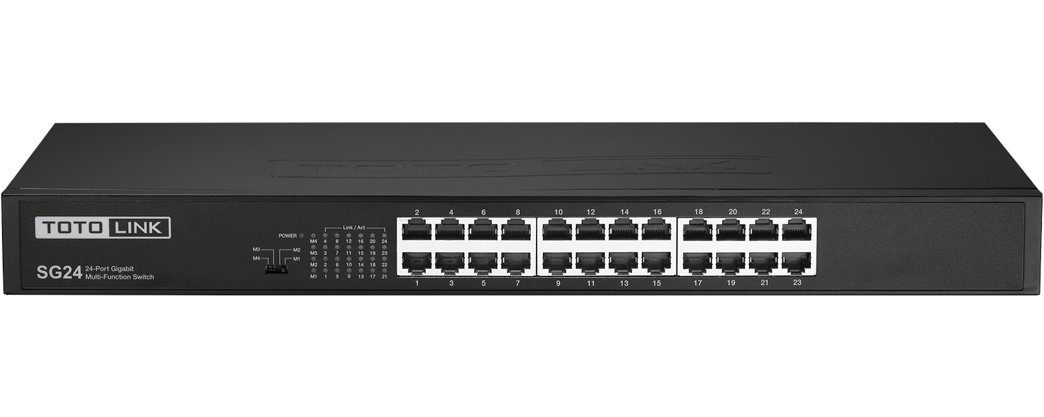 Totolink  24-Ports unmanaged switch  10/100/1000Mbps auto-negotiation ports